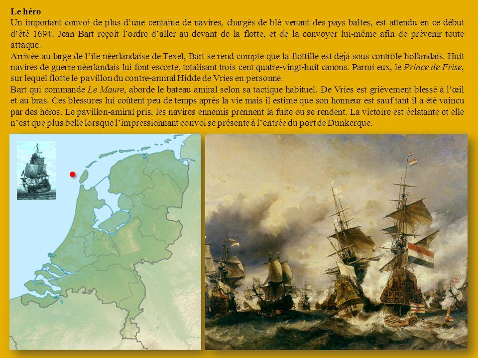 Le héro Un important convoi de plus dune centaine de navires, chargés de blé venant des pays baltes, est attendu en ce début dété 1694. Jean Bart reço