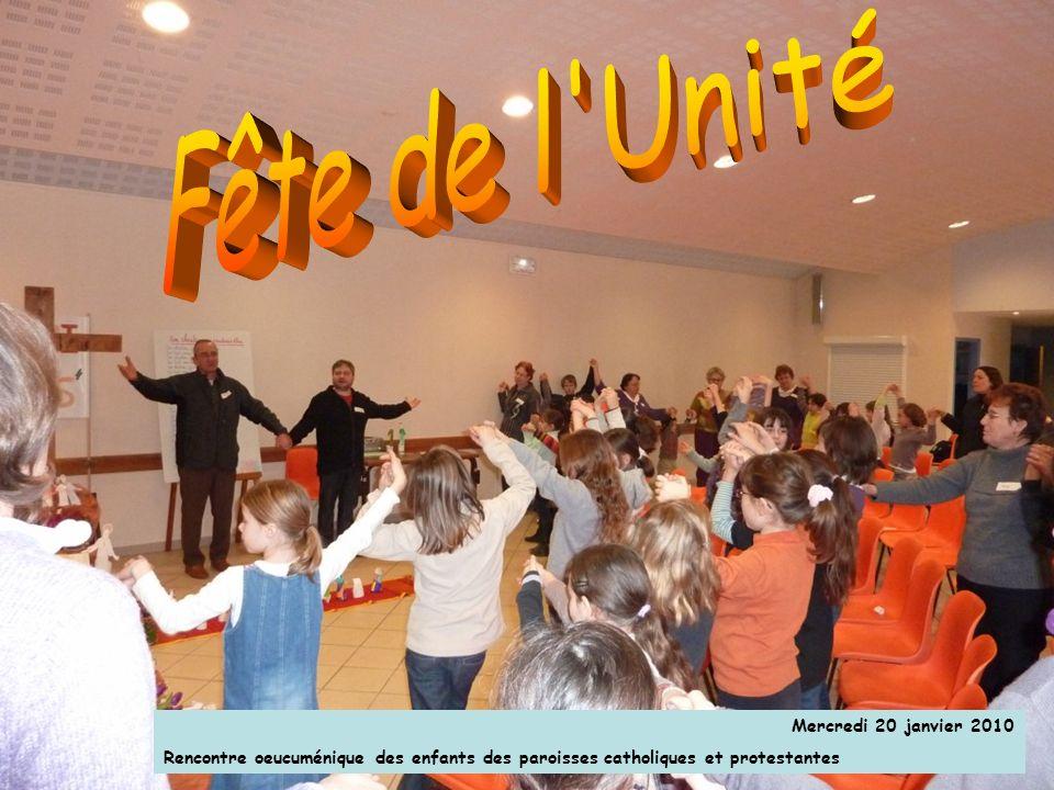 Mercredi 20 janvier 2010 Rencontre oeucuménique des enfants des paroisses catholiques et protestantes