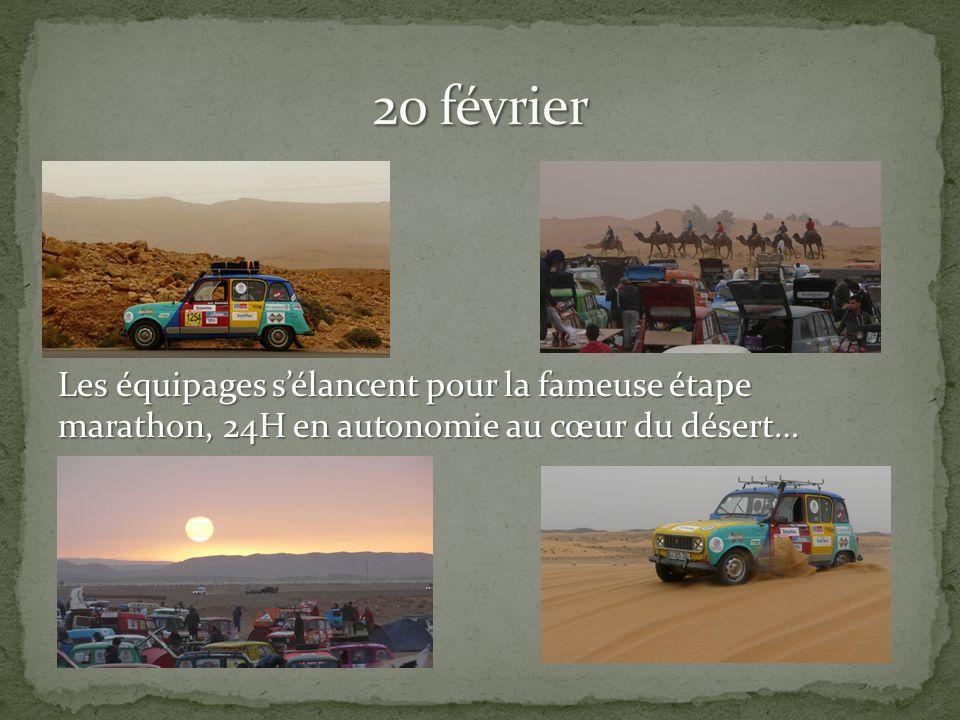Les équipages sélancent pour la fameuse étape marathon, 24H en autonomie au cœur du désert…
