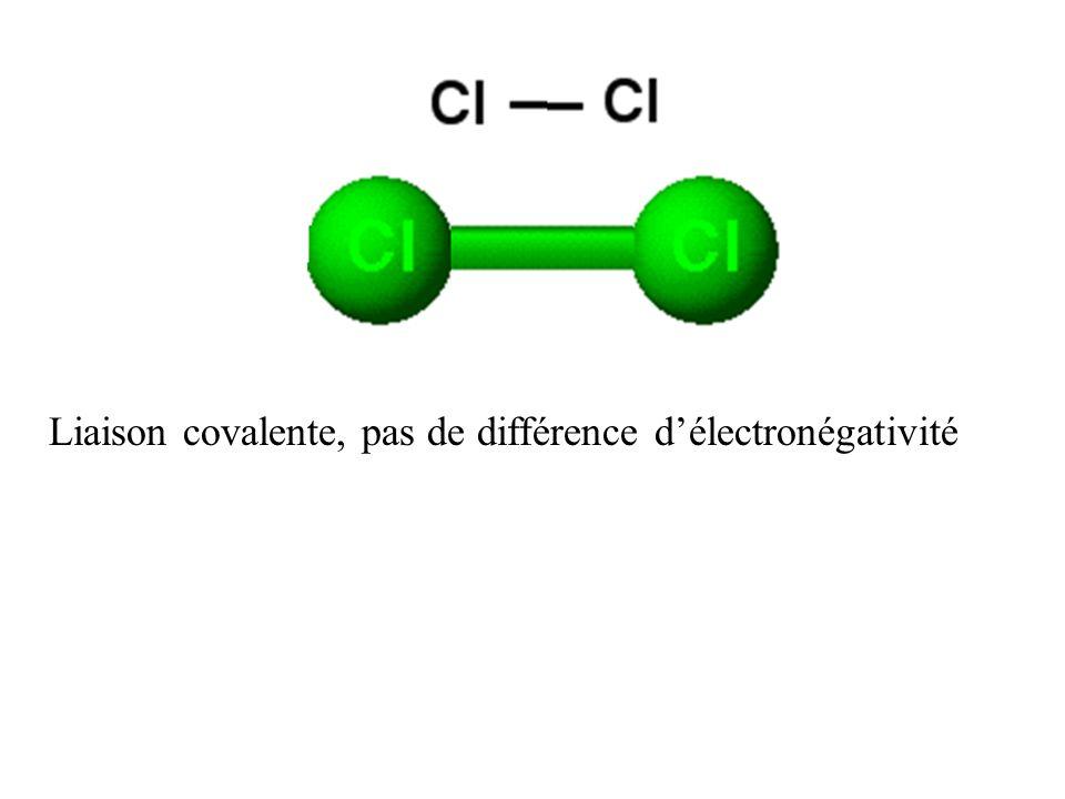 Dans une liaison ionique les électrons ne sont plus partagés, la liaison est due à lattraction électrique entre les deux ions.