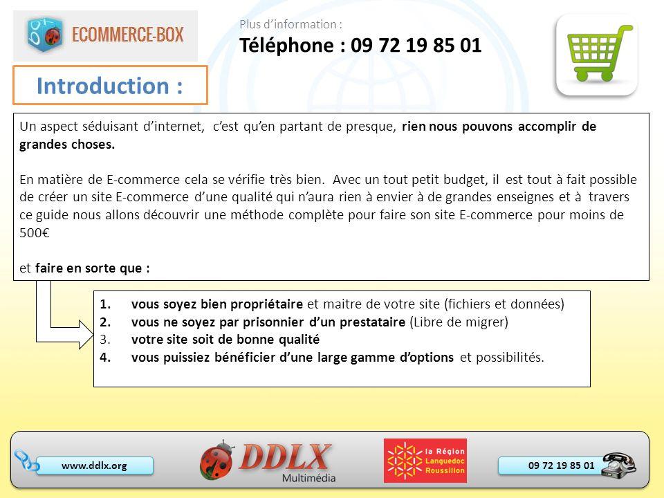 09 72 19 85 01 www.ddlx.org Introduction : Téléphone : 09 72 19 85 01 Plus dinformation : Un aspect séduisant dinternet, cest quen partant de presque,