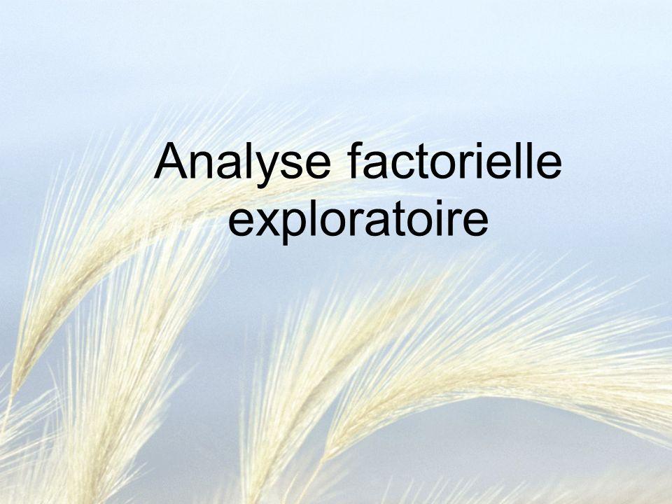 Analyse factorielle confirmatoire