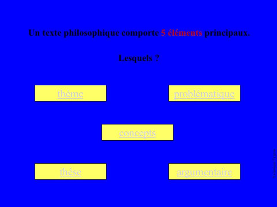 Véronique Pageau Un texte philosophique comporte 5 éléments principaux.
