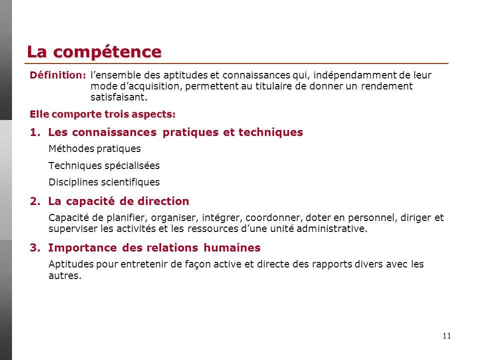 11 La compétence 1.
