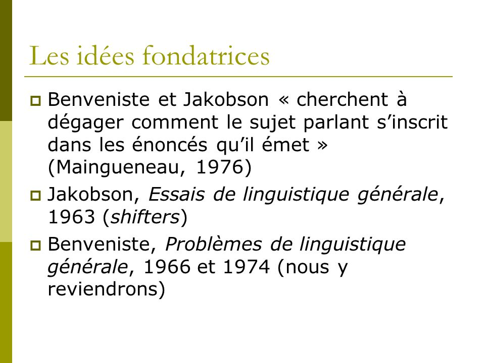 Les développements (1) Développement de plusieurs courants: ethnographie de la communication, analyse conversationnelle (Grice) Ecole française : M.