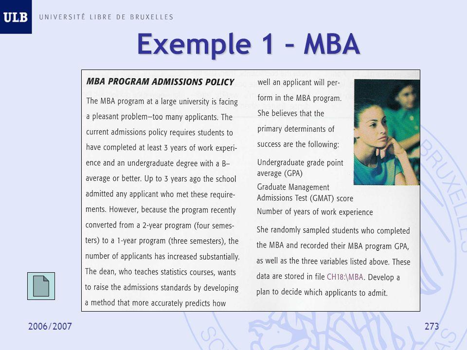 2006/2007274 Exemple 2 – La Quinta