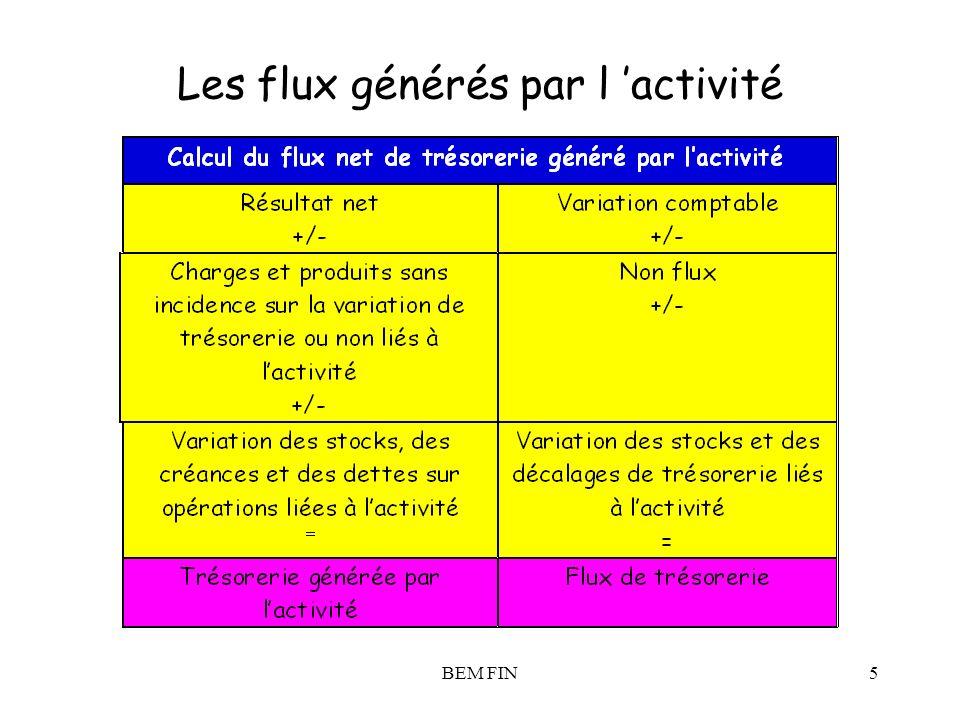 BEM FIN5 Les flux générés par l activité