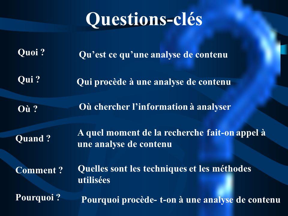 Types danalyse de contenu Combinaison de tout ou partie des différents types danalyse analyse dun document COMMENT?