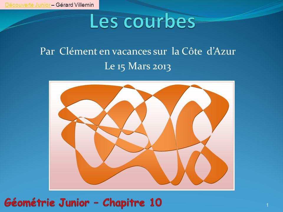 Par Clément en vacances sur la Côte dAzur Le 15 Mars 2013 1 Découverte Junior Découverte Junior – Gérard Villemin