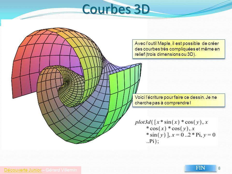 Courbes 3D 8 FIN Voici lécriture pour faire ce dessin.