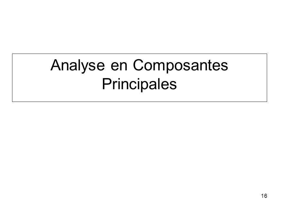 16 Analyse en Composantes Principales