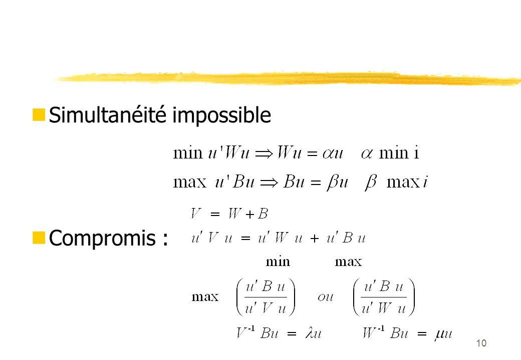 10 Simultanéité impossible Compromis :