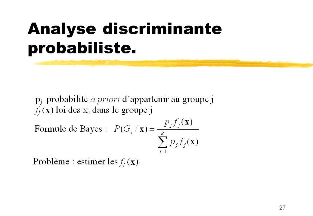 27 Analyse discriminante probabiliste.