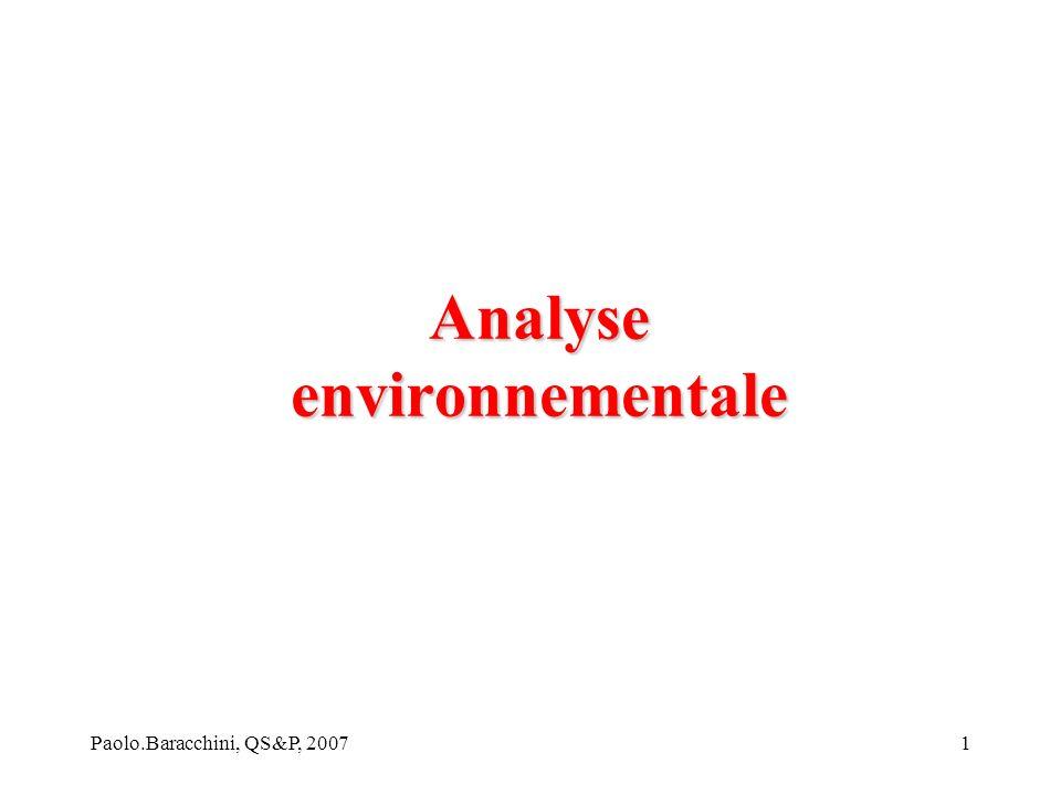Paolo.Baracchini, QS&P, 20071 Analyse environnementale