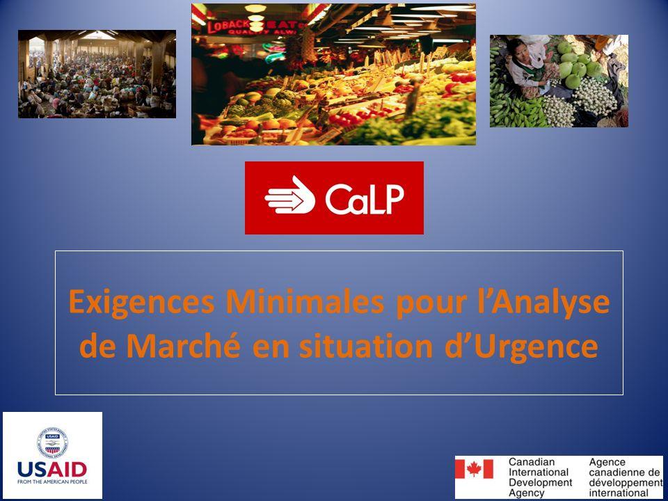 Prochaines étapes CaLP et les participants disseminent les EM EM testées par praticiens Feedback des praticiens http://www.cashlearning.org/w hat-we-do/minimum- requirements-for-market- analysis-in-emergencies Revision des EM 12 Eté 2013 Dec 2013