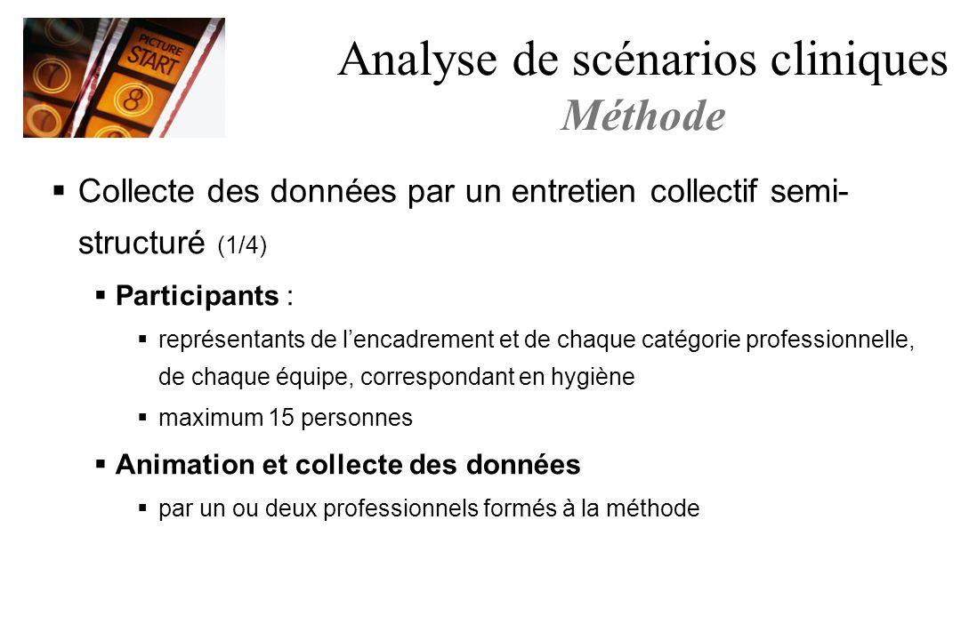 Collecte des données par un entretien collectif semi- structuré (1/4) Participants : représentants de lencadrement et de chaque catégorie professionne