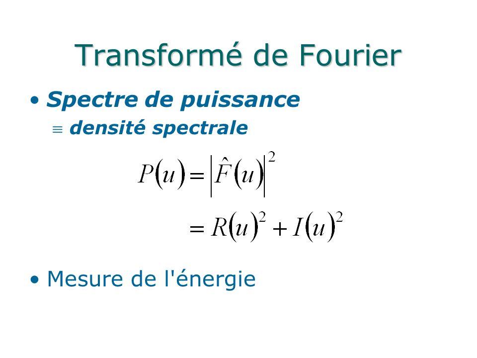 Spectre de puissance densité spectrale Mesure de l énergie