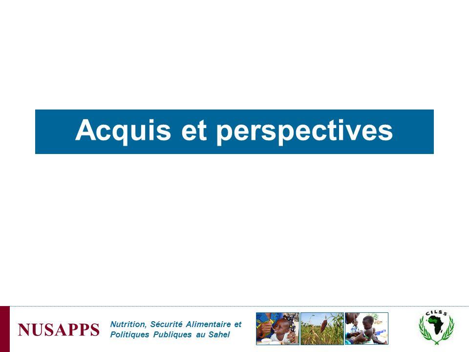 Nutrition, Sécurité Alimentaire et Politiques Publiques au Sahel NUSAPPS Acquis et perspectives