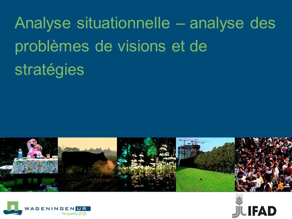 Questions clés : visions et opportunités Quels changements sont souhaités par les intervenants et à réaliser par le biais du projet .