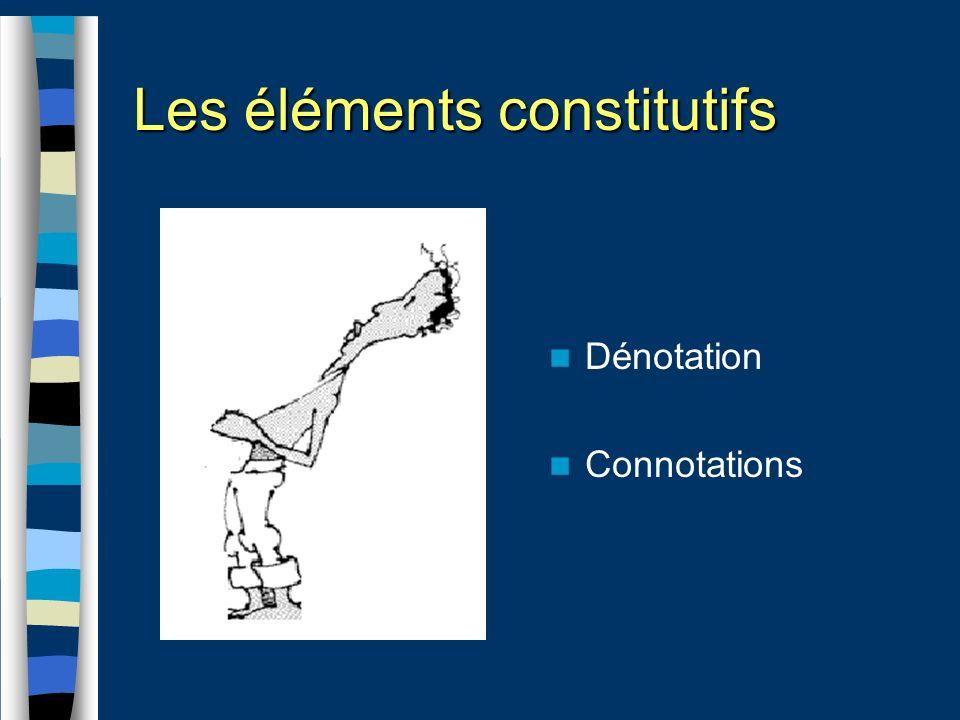 Dénotation Connotations Les éléments constitutifs