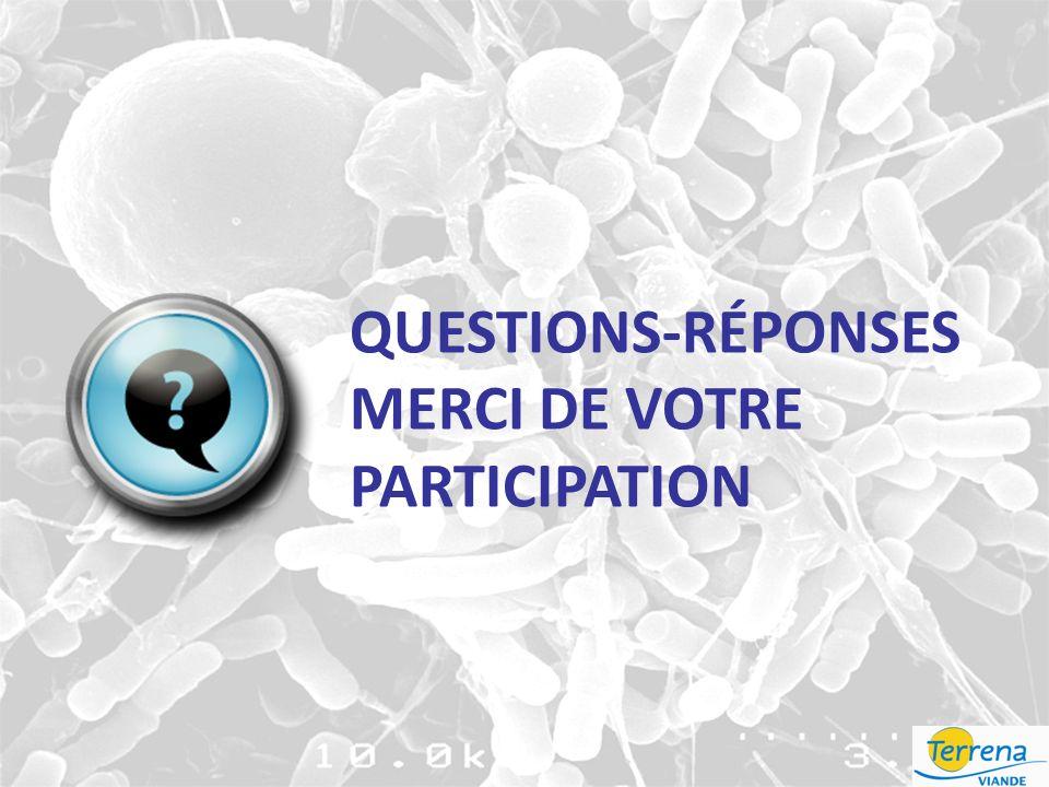 QUESTIONS-RÉPONSES MERCI DE VOTRE PARTICIPATION