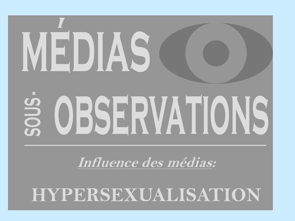 Influence des médias: HYPERSEXUALISATION