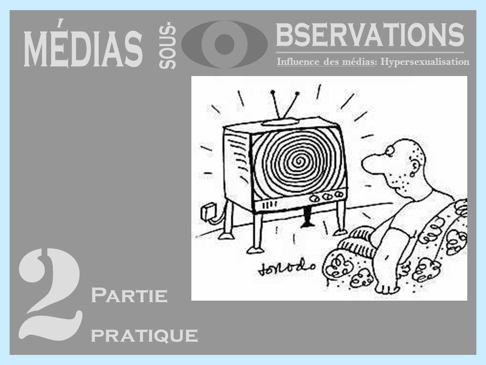 Influence des médias: Hypersexualisation 2 Partie pratique