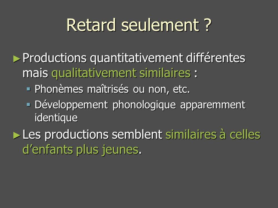 théoriesparamètres phonologie pure surfacemapping saillance (+) XXX complexité phonologique (-) XXX fonctionnel (-) lexical (+) X complexité syntaxique (-) XX syntaxique (-) sémantique (+) X Paramètres linguistiques pour trois théories phonologiques