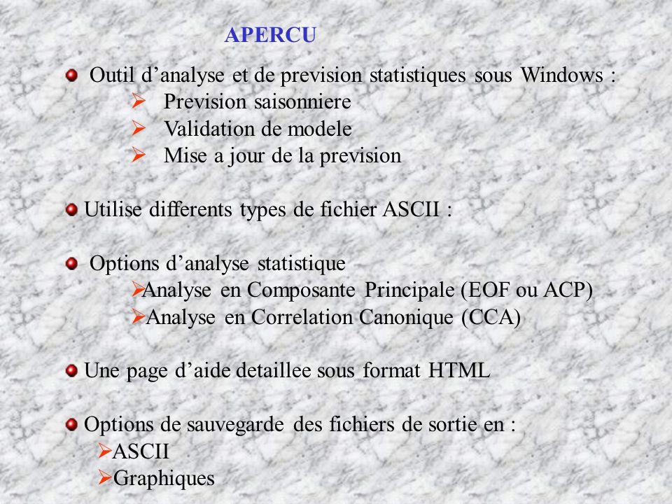 Outil danalyse et de prevision statistiques sous Windows : Prevision saisonniere Validation de modele Mise a jour de la prevision Utilise differents t