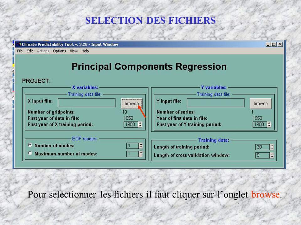 SELECTION DES FICHIERS Pour selectionner les fichiers il faut cliquer sur longlet browse.