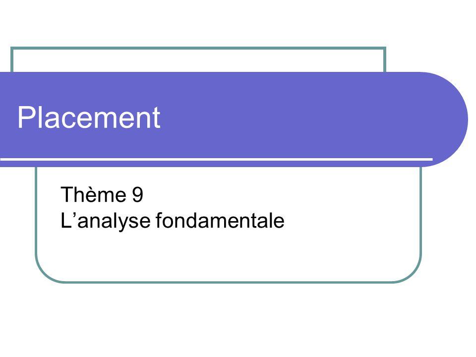 Placement Thème 9 Lanalyse fondamentale
