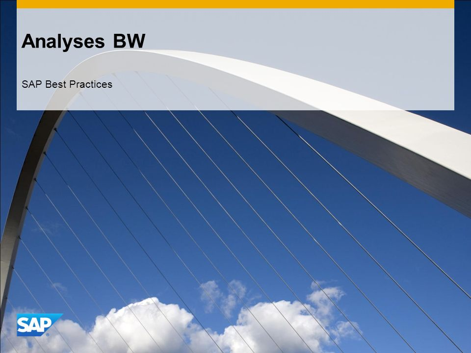 Analyses BW SAP Best Practices