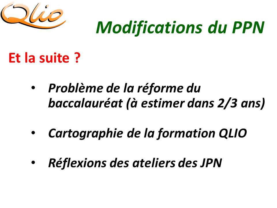 Modifications du PPN Et la suite .