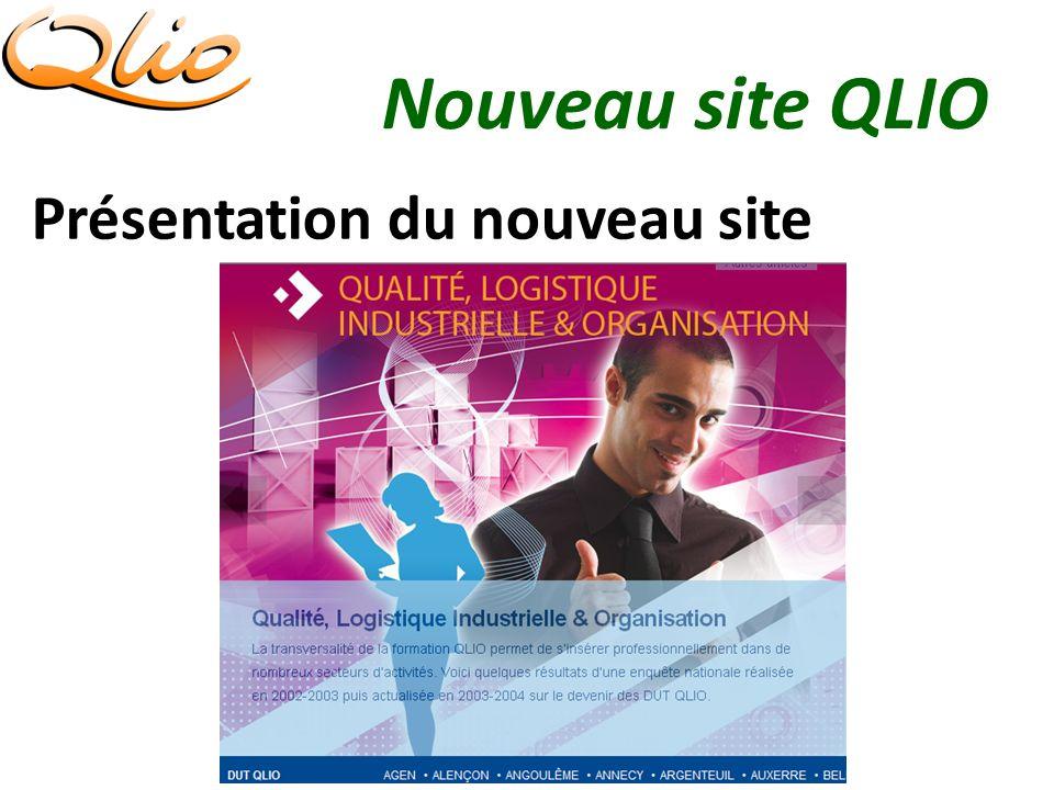 Nouveau site QLIO Présentation du nouveau site