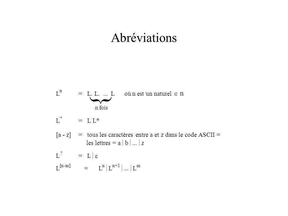 Abréviations } L n =L. L....