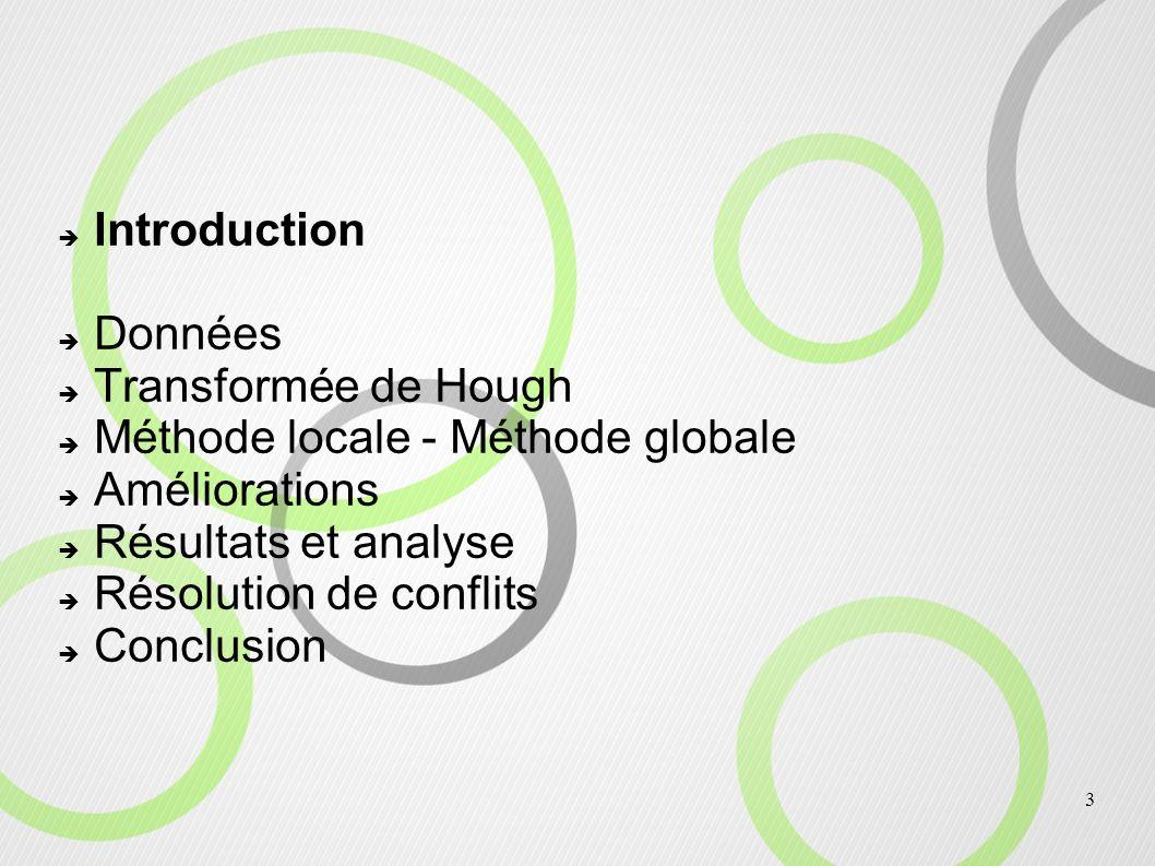 4 Introduction Recherche d éléments remarquables dans un nuage de points : - Digital Terrain Model, Canopy Top Surface Model, Troncs, - Feuillage Recherche des troncs grâce à la transformée de Hough : Recherche de cercles