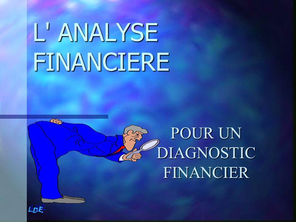 L' ANALYSE FINANCIERE POUR UN DIAGNOSTIC FINANCIER