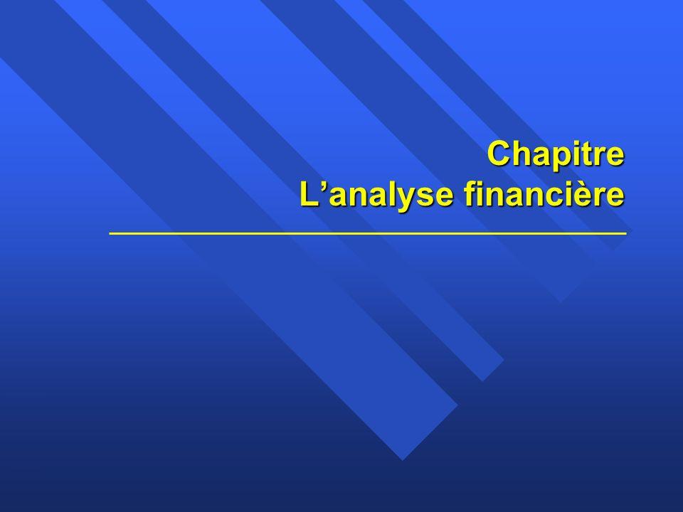 Chapitre 2 Lanalyse financière1 Claude THOMASSIN, éditeur Chapitre Lanalyse financière