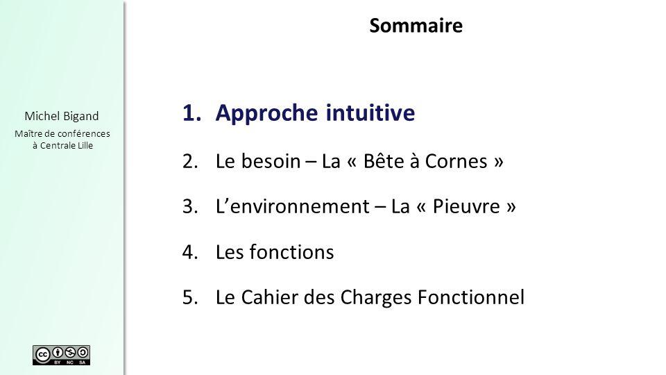 Chapitre 2 Michel Bigand Maître de conférences à Centrale Lille Caractéristiques dun besoin Un besoin peut être – Exprimé ou implicite – Avoué ou non – Latent 25