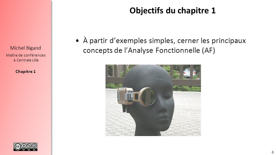 Chapitre 1 Michel Bigand Maître de conférences à Centrale Lille Objectifs du chapitre 1 À partir dexemples simples, cerner les principaux concepts de