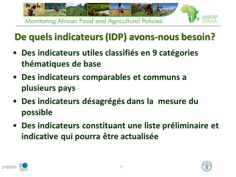 De quels indicateurs (IDP) avons-nous besoin.