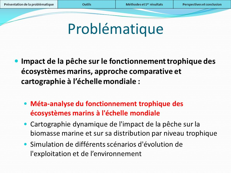 Outils 1.Création dun package R EcoTroph 2.