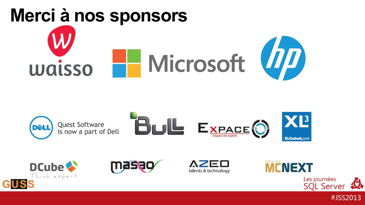 #JSS2013 Merci à nos sponsors