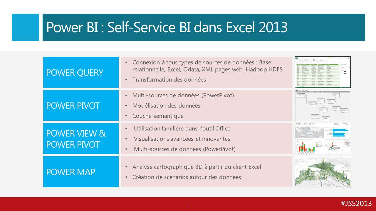 #JSS2013 Power BI : Self-Service BI dans Excel 2013