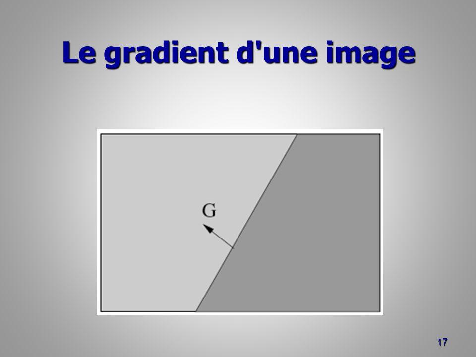 Le gradient d'une image 17