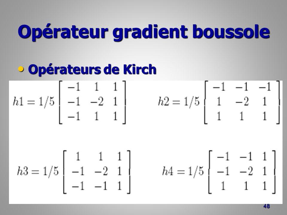 Opérateur gradient boussole Opérateurs de Kirch Opérateurs de Kirch 48