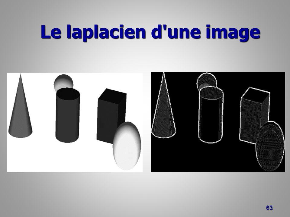 Le laplacien d'une image Le laplacien d'une image 63