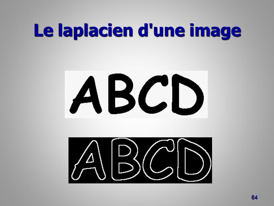 Le laplacien d'une image 64