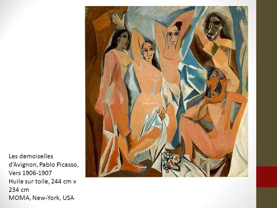 Les demoiselles dAvignon, Pablo Picasso, Vers 1906-1907 Huile sur toile, 244 cm x 234 cm MOMA, New-York, USA