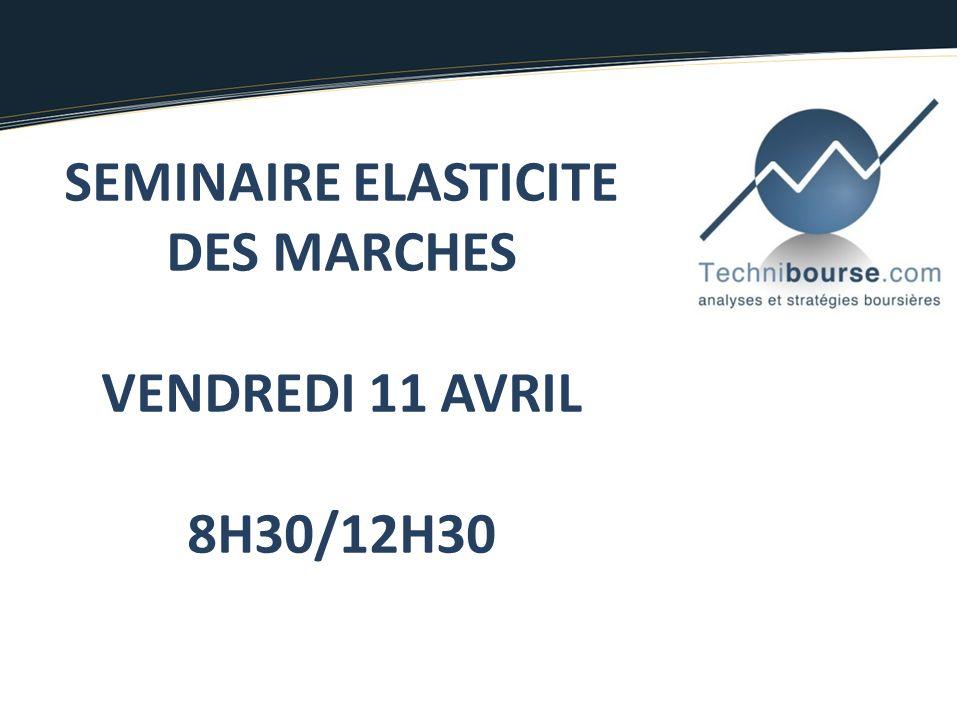SEMINAIRE ELASTICITE DES MARCHES VENDREDI 11 AVRIL 8H30/12H30